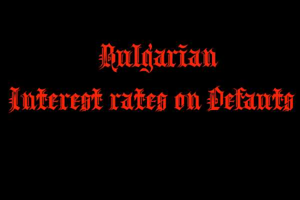 Interest rates on defaults